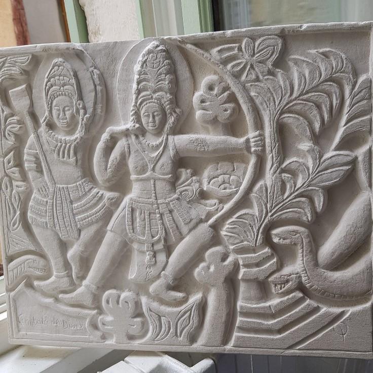 Aline  combat des Dieux Ramayana