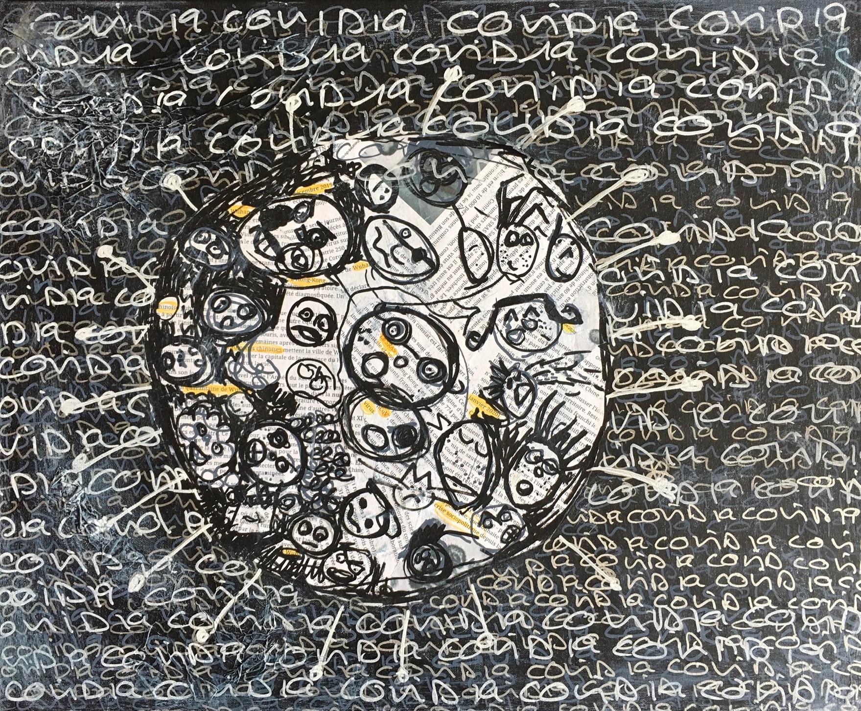 Laure Chaminade - Covid 19 à 3 pinceaux.