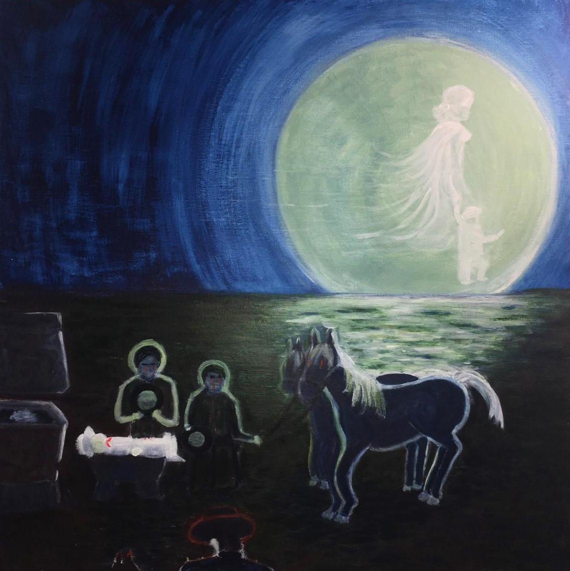 Marie-Ange MASSARD-COMBE. La lune vint à la forge, d'après F.Garcia Lorca.